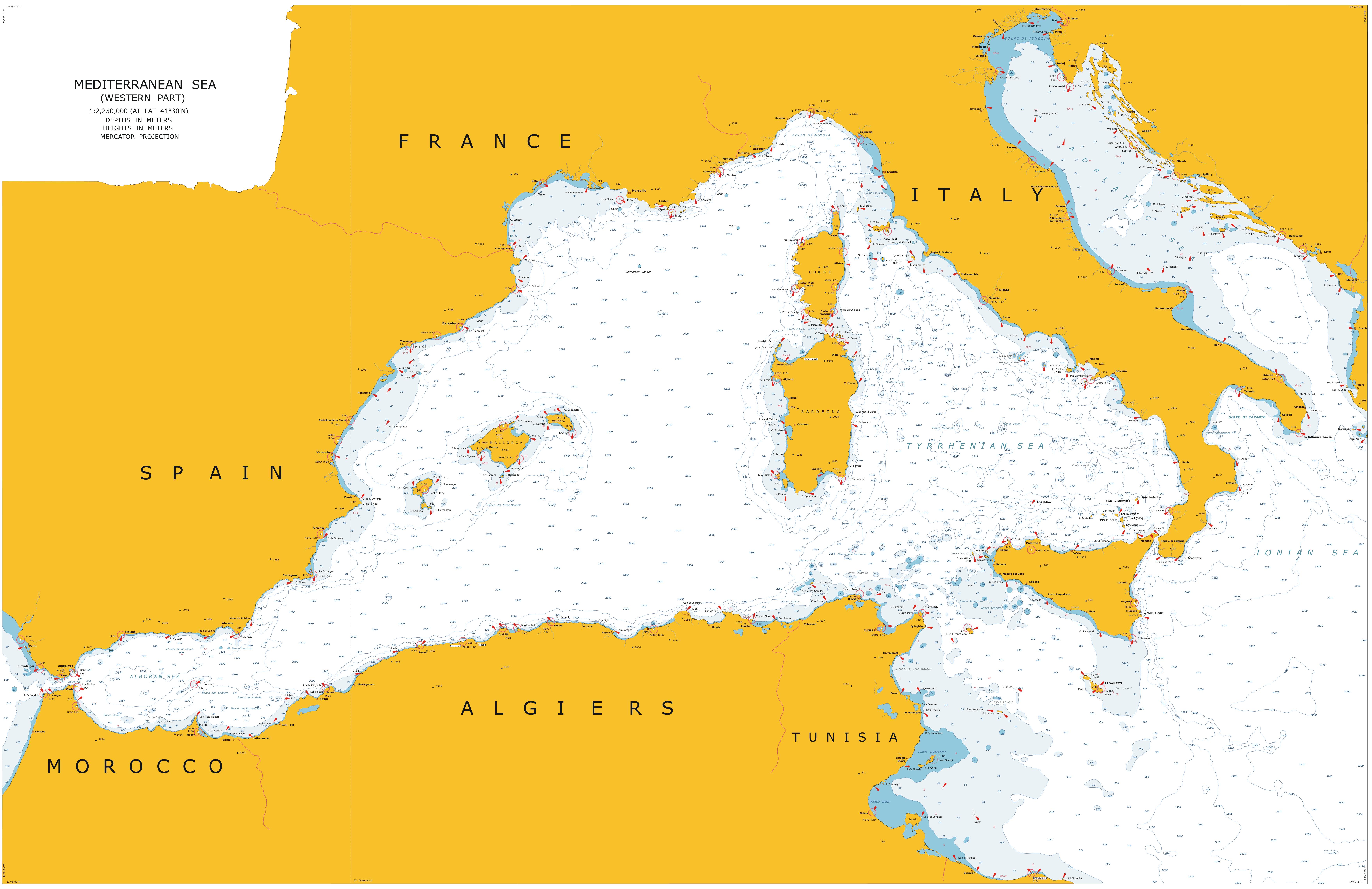Mediterranean Sea Map World images